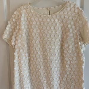 Dressy White Talbots blouse